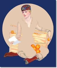 Coles Phillips - illustration for Good Housekeeping Magazine cover (March 1916) Fadeaway girl