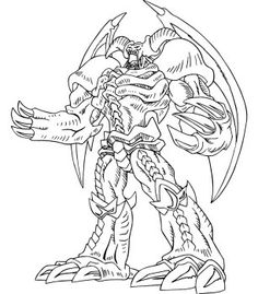 yu gi oh great power coloring page