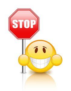 Stop Emoticon