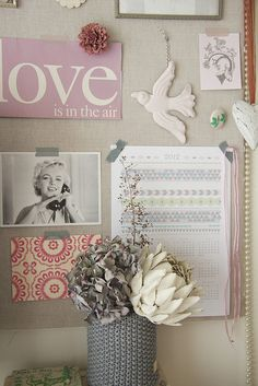 Pretty wall collage.