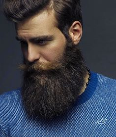 Amazing Beard Styles from Bearded Men Worldwide Beard And Mustache Styles, Beard Styles For Men, Beard No Mustache, Hair And Beard Styles, Great Beards, Awesome Beards, Moustaches, Bart Tattoo, Bart Styles