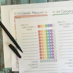 Printable Tracking Pages and Weekly Meal Planning Template for the 21 Day Fix