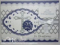 "Karins Kreativstube: Silbernes Ordensjubiläum ""Fr. Bonifatius"" blau Marianne Design, Card Ideas, Frame, Cards, Home Decor, Creative, Blue, Picture Frame, Decoration Home"