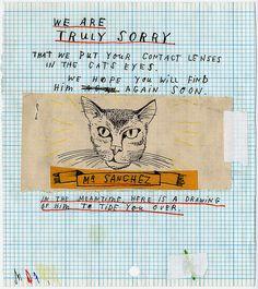 Cats in Illustration: David Fullarton Collages, Collage Art, Claude Monet, Illustrations, Illustration Art, Indie, Sketchbook Inspiration, You Draw, Vincent Van Gogh
