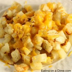 cheesy potatoes recipe - square