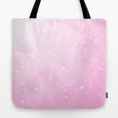Tote Bag 13x13 16x16 18x18 Pink Tote Stars Moon Tote by MGMart
