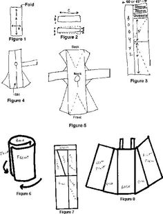 """PERFECT <3 Viking Underdress and Viking Apron dress instructions: """"I have found that this apron dress is much warmer than the two panel version (especially when it's made of wool). It is also less likely to drop into whatever you're cooking because as you bend over, the dress splits open and swings behind you."""""""