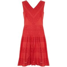 Somerset by Alice Temperley Cotton Dress, Red ($70) via Polyvore