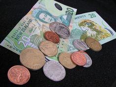 NZ $!! Front is Queen Elizabeth11 & the Beehive = Parliament Buildings Wellington. REVERSE is New Zealand's only NATIVE falcon Kārearea.