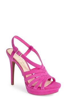 Jessica Simpson 'Peace' Suede Peep Toe Platform Sandal (Women)   Nordstrom