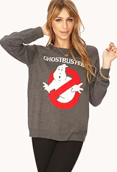 Playful Ghostbusters Sweater | FOREVER21 - 2040599621 large 24.80