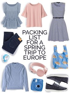 Packing List for Europe in Spring