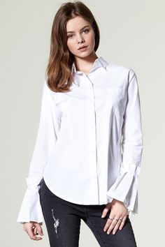 Boa Pleated Cuff Shirt Discover the latest fashion trends online at storets.com #shirt #cuffshirt #simplelook