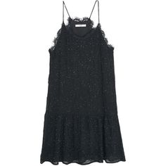 Mango Sleeveless Embroidery Bead Dress, Black ($105) ❤ liked on Polyvore featuring dresses, black mini dress, cocktail mini dress, black midi dress, black party dresses and sheer cocktail dress