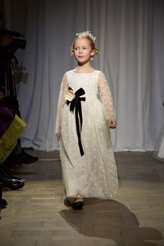 At the Bonpoint fashion show in Paris, the miniature models melted the hearts of an audience not usually given to chuckling, sighing, or, on at least one occasion, patting a model as she passed by.