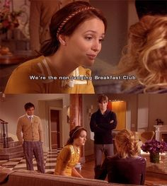 "You can tell us anything. We don't judge. We're the non-judging Breakfast Club. We're your best friends. Anything you do is something we did too."" — Gossip Girl (Season 1: Episode 17)"