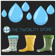 #Rain or #shine, you've got #BootsByTwoAlity!  ✔️ ☔  #MadeInTheUSA #RainBoots #ClearBoots #InterchangeableLiners