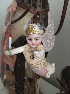 Watte Wattefigur ,Wattekind für Federbaum Porzellankopf Christbaumschmuck ✨Engel | eBay