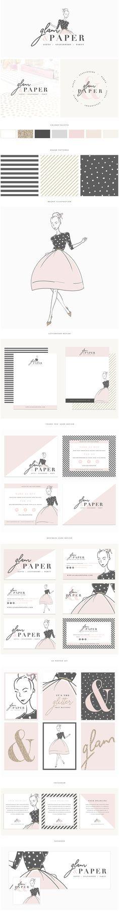 Brand Design | Glam & Paper » Brand Me Beautiful More