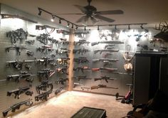 Gun Pegboard for your gun room. Organize guns on pegboard with Wall Control. Wall Control industrial strength metal pegboard products have the versatility to tackle any storage and organizational need from the garage, to the tool crib, to the arsenal! Wall Control metal pegboard products have you covered!