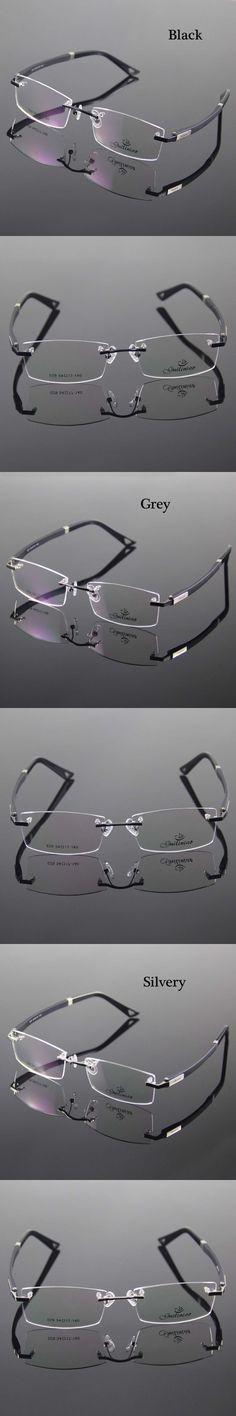 Rimless Glasses Frame Designer Rim Spectacles Men Eyeglasses Optical Frame…