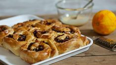 Nothing beats a warm, sticky Chelsea bun fresh from the oven. These are drizzled with icing for an extra naughty treat. Great British Bake Off, Mary Berry, Chelsea Bun Recipe, Iced Buns, Paul Hollywood, Roasting Tins, British Baking, Sticky Buns, Dried Fruit