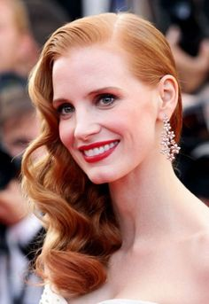 Jessica Chastain-classic Hollywood beauty & I loved her in The Help!