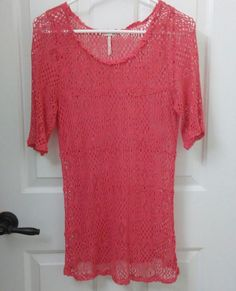 b33e633ea1 Intimately Free People Coverup Large Fits Like Medium Crochet Beach Top  Orange  FreePeople  CoverUp
