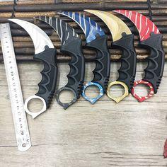 CS GO counter strike hawkbill tactical karambit neck knife sharp fight camp hike outdoor self-defense offensive