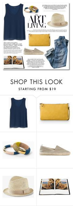 """""""The art of living"""" by galina-gavrailova ❤ liked on Polyvore featuring MANGO, La Femme, Castañer, Express, Rizzoli Publishing, Summer, summerstyle, espadrilles, summeroutfit and summer2015"""