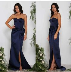 Sexy Royal Blue Evening Dresses Satin Long Prom Dresses Sweetheart Sleeveless Side Split Long Formal Dress 2017 Evening Dresses Mermaid Evening Dresses Runway Dresses Online with $99.0/Piece on Lpdress's Store | DHgate.com
