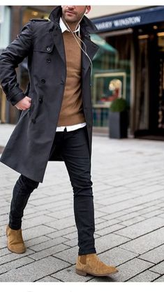 Comfy winter fashion outfits for men in 2019 71 Casual Chic, Casual Wear, Men Casual, Casual Shoes, Winter Fashion Outfits, Autumn Fashion, Men's Fashion, Fashion Photo, Fashion Trends