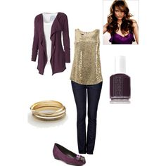 eggplant, created by mirapaigew on Polyvore  This is so me! Love the whole outfit and color!