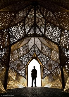 """Lights..."" - photo by Mustafa AbdulHadi, via 500px; Arab art somewhere in Bahrain ...manama?... ...Timber Lattices, Alubaf Bank, Bahrain AGID Design Consultants ???"