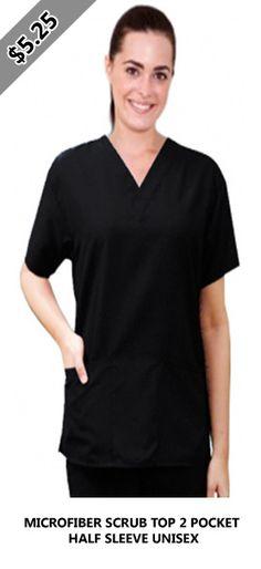 MICROFIBER SCRUB TOP 2 POCKET HALF SLEEVE UNISEX Scrub Sets, Half Sleeves, Scrubs, Unisex, Pocket, Mens Tops, T Shirt, Women, Fashion