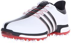 adidas Golf Men's Tour360 Boa Boost Spiked Shoe, FTWR White/Core Black/Power Red, 14 M US - http://golf.shopping-craze.com/index.php/2016/06/10/adidas-golf-mens-tour360-boa-boost-spiked-shoe-ftwr-whitecore-blackpower-red-14-m-us/