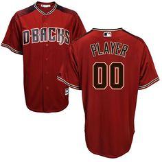 Men s Arizona Diamondbacks Majestic Sedona Red Black Cool Base Custom Jersey 27494a49f
