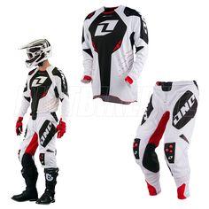 2013 Spring One Industries Defcon Motocross Kit Combo - White Black Red - 2013 One Industries Motocross Kit Combos - Adult