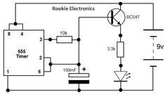 #555TimerFadingLEDCircuit | #ElectronicCircuits | #ElectricalCircuits | #EngineeringCircuits.