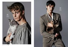 Models with Cats: Chad White, Garrett Neff, RJ Rogenski + More for Out image Models with Cats photo 004 800x553