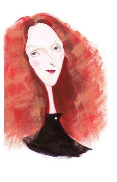 Portrait of Grace Coddington, United States, by Jolly Bureau. Grace Coddington, Vogue Uk, Moda Fashion, Fashion Art, People Illustration, Illustration Art, Vogue Editorial, Fashion Stylist, Creative Director