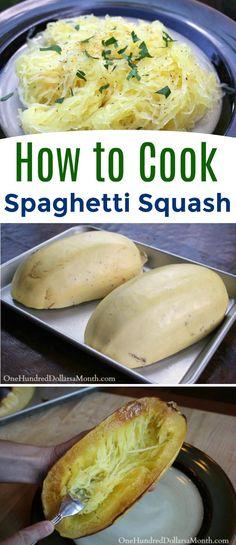 How to Cook Spaghetti Squash, Spaghetti Squash, How to cook squash, squash recipes