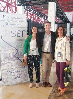 María José Figueroa, María Hernández y Dr. Marín - 31º Congreso Nacional de la Sociedad Española de Fertilidad @SEF