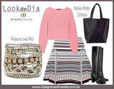 Inspiração de look com acessórios capazes de deixar qualquer produção ainda mais bonita!!! www.lojagracealmeida.com.br