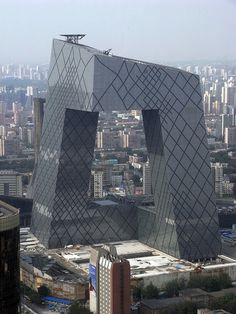 OMA Koolhaas and Scheeren CCTV building in Beijing.