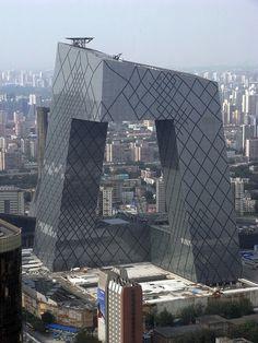 OMA Koolhaas and Scheeren CCTV building in Beijing.