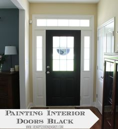 Easy way to make a big change in your home-paint interior doors black!