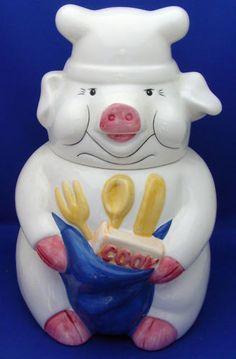 Piggy Chef cookie jar