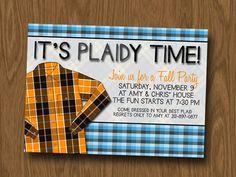 Fall Party Idea - PLAID!!
