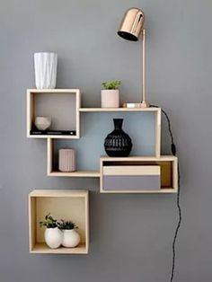 Wooden Shelves, Floating Shelves, Diy Furniture, Furniture Design, Storage Shelves, Own Home, Bookshelves, Pure Products, Interior Design